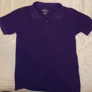 Faded Glory XXL youth - Purple Polo/knit short slv